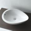 Badezimmereinrichtung - Aufsatzwaschbecken oval Tropfen-design