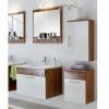 Badezimmereinrichtung - Badezimmerset - Arozina in Wallnuss / weiß