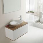 Badezimmereinrichtung - Badmoebel und Spiegel Pure -Eiche