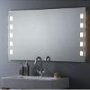 Badezimmereinrichtung - Flächenbündig beleuchteter Badezimmerspiegel