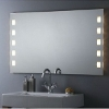 Flächenbündig beleuchteter Badezimmerspiegel