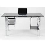 Büroeinrichtung - Moderner Schreibtisch - Chrom/Glas