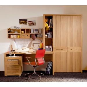 Büroeinrichtung - Schreibtischset - Kernbuche massiv - Büromöbel