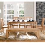 Esszimmereinrichtung - Essgruppe Eiche Bank / Stühle