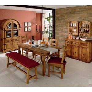 Esszimmereinrichtung - Esszimmer Pinie geölt Baurnhausstil - massiv antik