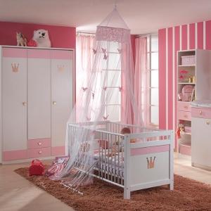 Kinderzimmereinrichtung - Babyzimmer Cindarella rosa/blau