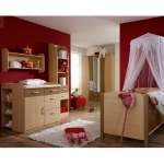 Kinderzimmereinrichtung - Jugendzimmer in Nuss und Buche