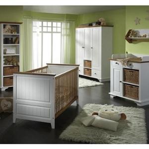 Babyzimmer Julia Massivholz weiß/braun