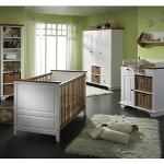 Kinderzimmereinrichtung - Babyzimmer Julia Massivholz weiß/braun