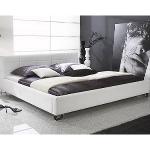 Schlafzimmereinrichtung - Bett Corinna 180x200 in Leder