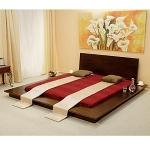 Schlafzimmereinrichtung - Bett Natalie - niedere Höhe