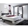 Schlafzimmereinrichtung - Schlafzimmer Hochglanz weiss Nuss-grau