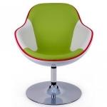 Wohnzimmereinrichtung - Retrostil Sessel modern interpretiert - chrom, grün,weiß,rot
