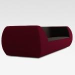 Wohnzimmereinrichtung - Pearl Sofa - futuristisch grau,weinrot