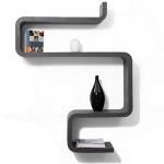 Wohnzimmereinrichtung - Stil-Regal in Granitlook - patentiertes Stecksystem