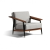 Wohnzimmereinrichtung - Sessel Dowel - große Holzarmlehnen
