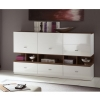 Top-Design - Sideboard weiß - Nuss