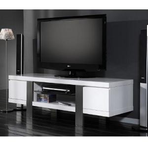 TV-Möbel - Hochglanz, weiß
