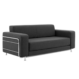 Sofa Modell Beauty - Classic Design  - chrom Stoff